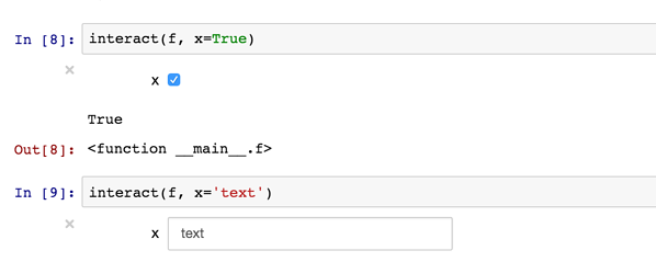 Input text function in Jupyter