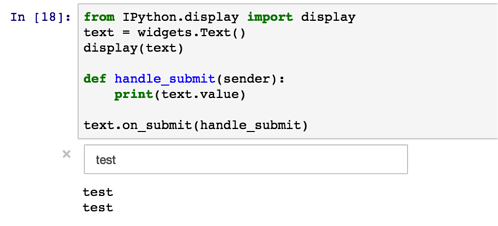 Text submission function in Jupyter