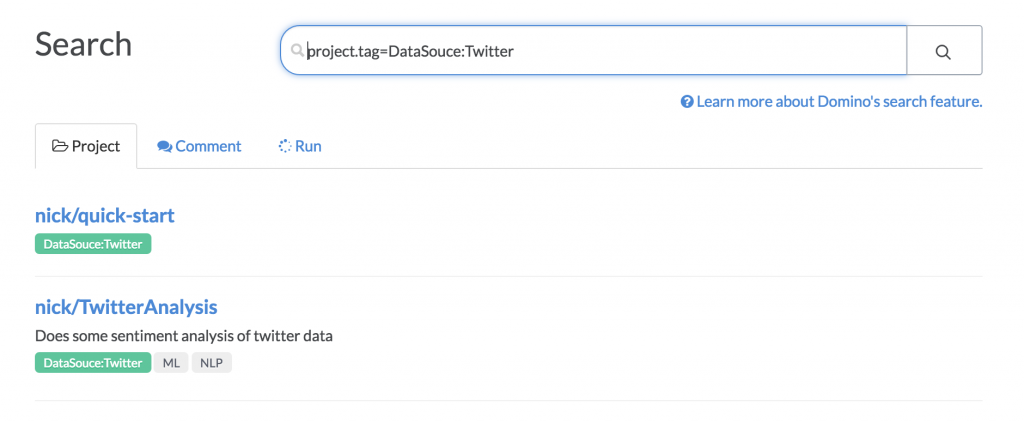 Data Science Project Tag Search