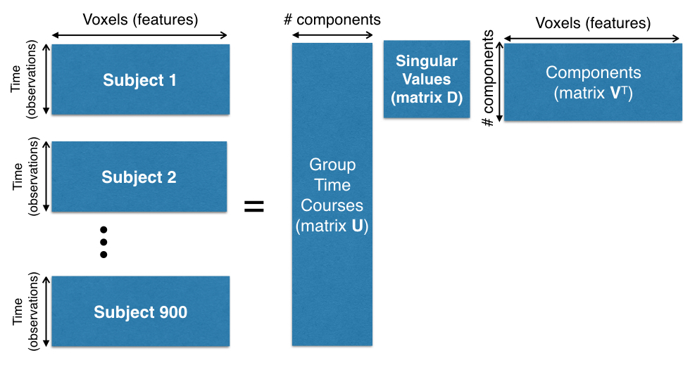 Concatenation of 900 subjects for PCA computation.